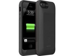 Belkin F8W292TTC00 Grip Power Battery Case - Cellular Phone Battery 1 X 2000 Mah - Blacktop, Whiteout - For Apple Iphone 5