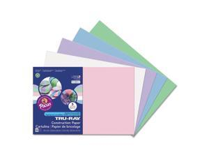Pacon PAC6569 Tru-Ray Construction Paper, 76 Lbs., 12 X 18, Assorted Pastel, 50 Sheets/Pack
