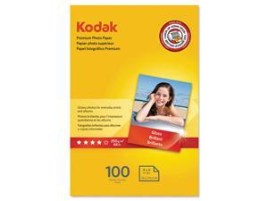 Kodak 1960434 Premium Photo Paper, 8.5 Mil, Glossy, 4 X 6, 100 Sheets/Pack