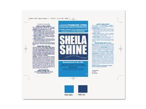 Sheila Shine LABELSADHVS Product Labels, Self-Adhesive, 6-3/4 X 4-1/4, Silver, 100/Pack