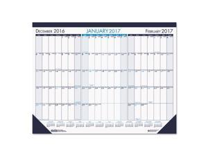 House of Doolittle 136 Three Month Desk Pad Calendar, 22 X 17, 2016-2018