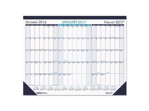 House of Doolittle 136 Three Month Desk Pad Calendar, 22 X 17, 2016-2018
