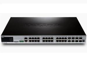 D-Link DGS362028PCSI-CB (2) 24Port Layer 3 Gibt Stkab Poe+ Plus Free Cable