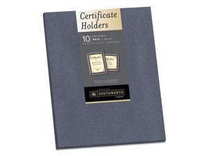 Southworth 98869 Certificate Holder, Gray, 105Lb Linen Stock, 12 X 9 1/2, 10/Pack