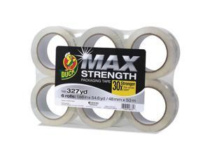 Duck 241513 Max Packaging Tape, 1.88 Inch X 54.6 Yds, 3 Inch Core, Crystal Clear, 6/Pack