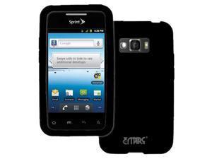 EMPIRE LG Optimus Elite LS696 Silicone Skin Case Cover (Black) [EMPIRE Packaging]