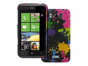 EMPIRE HTC Titan Paint Splatter Stealth Rubberized Design Hard Case Cover [EMPIRE Packaging]