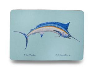 Betsy Drake Colorful Blue Marlin Comfort Floor Mat 18 In. X 26 In.