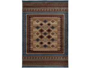 Rizzy Home Bellevue Double Pointed Area Rug 6 Ft. 7 In. X 9 Ft. 6 In. Tan