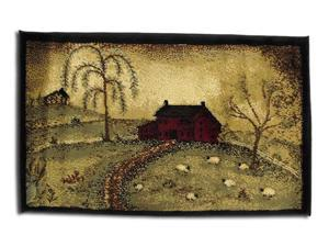 Good Life Scenic Country Farm Throw Rug 20 X 30 In.