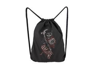 Sons of Anarchy SOA American Flag Reaper Backsack Drawstring Backpack