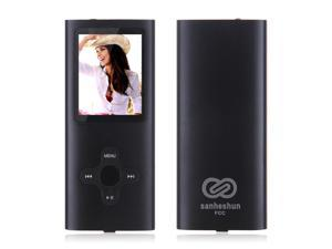 "New 8GB Slim Mp3 Mp4 Player With 1.8"" LCD Screen FM Radio, Video, Games & Movie-Black"