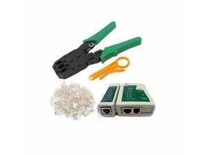Wholesale 10 X Cable Tester +Crimp Crimper +100 RJ45 CAT5 CAT5e Connector Plug Network Tool Kit Lot 10