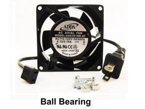 80mm 38mm New Case Cabinet Fan 110 115 120 VAC 30CFM Ball Brg Cooling 8038 362*
