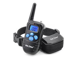 Petrainer 330 Yards Remote Training E-collar PET998DRB Rechargeable and Rainproof Dog Training Collar with Safe Beep, Vibration and Shock Electronic Electric Collar with Silicone, Visible Buttons