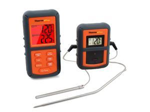 ThermoPro TP-08 Remote Wireless Food Kitchen Thermometer - Dual Probe - Remote BBQ, Smoker, Grill, Oven, Meat Thermometer - Monitors Food From 300 Feet Away