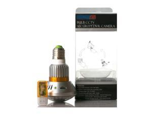 Light Bulb Disguised Recorder Hidden Pinhole Security Spy Camera Motion Detect Home Office Surveillance Video Recorder + 24 940nm IR LED + 8GB MicroSD