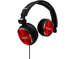 Coby Aluminum Foldz Headphones CVH-804-RED - RED