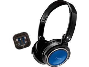 Coby CVH-800-BLU 2-In-1 Jammerz Xtra Headphones and Earbuds with Case ( Blue)