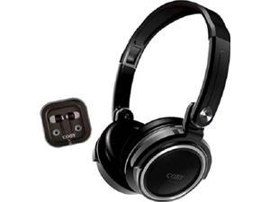 Coby CVH-800-BLK 2-In-1 Jammerz Xtra Headphones and Earbuds with Case (Black)
