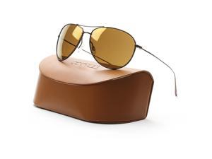 Oliver Peoples 1147ST Tavener Aviator Sunglasses 5146/5A Birch Brown Gold Mirror