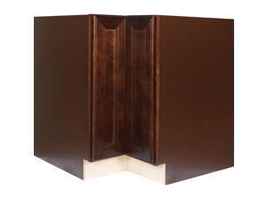 """33 Inch Lazy Susan Base Cabinet in Leo Saddle with 2 Soft Close Doors 33"""""""