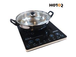 Hotor 1500-Watt Ultra-thin Induction Cooker Cooktop with Stainless Steel Pot (HC-20G9)