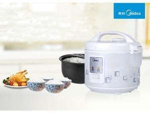 Midea MB-YJ4010 Electric Convenient 8 Cup Rice Cooker _White Color