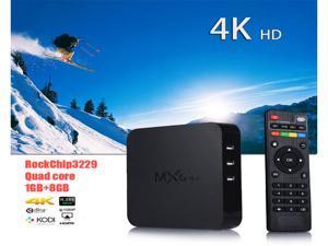 MXQ-4K Android 5.1 quad-core Cortex-A7 Smart TV Box 1+8G H.265 4K HD Media Streaming Player with Kodi 16