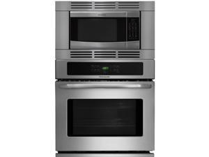 "Frigidaire 27"" Stainless Steel 3 Piece Self Cleaning Wall Oven Microwave Combo FFEW2725PS FFMO1611LS FFMOTK27LS"