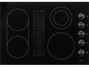 "Frigidaire 30"" Black Electric Smoothtop Cooktop with Built-In 500 CFM Downdraft Exhaust and Pro-Select® Controls Model RC30DE60PB"