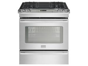 Frigidaire Professional Smudge-Proof Stainless Steel Slide-In Dual-Fuel Range FPDS3085PF
