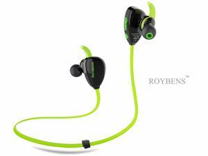 Roybens Ultra-light  Wireless Bluetooth Headphones,Universal Sweatproof Bluetooth 4.0 Stereo Headset With Noise Cancelling Microphone,Hands-free In-ear Earbuds/Earphone/Earpiece