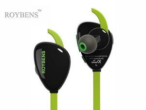 Roybens Luxury Bluetooth Headset Wireless Headphones, Noise Cancelling Bluetooth Earbuds Bluetooth Stereo Earphones High-quality Sport Earphone