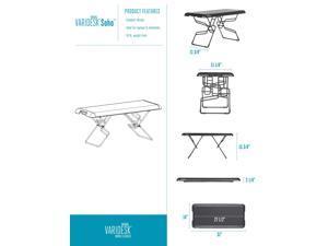 Height-Adjustable Standing Desk - VARIDESK Soho - Black