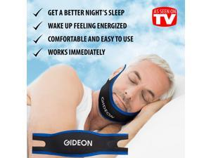 Gideon Adjustable Anti-Snoring Chin Strap - Natural and Instant Snore Relief - Stop Snoring Solution - Natural, Fast and Simple