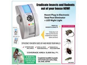 Hoont 2 Pack Plug-in Electronic Total Pest Eliminator Repellents + Night Light