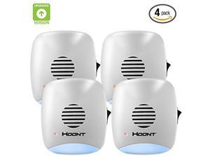 Hoont Indoor Plug-in Ultrasonic Pest Repeller with Night Light - Pack of 4 - Eliminate All Types of Insects and Rodents [UPGRADED VERSION]