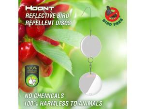 Hoont Bird Repellent and Deterrent Discs Set - 16 Discs Value Set - Reflective Disc Keeps All Birds Away from Your Property - Effective for Pigeons, Woodpeckers, Sparrows and Most Other Birds
