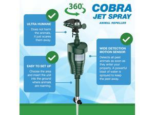 Hoont Cobra Powerful Outdoor Water Jet Blaster Animal Pest Repeller - Motion Activated - Expels Cats, Dogs, Squirrels, Birds, Deer, Etc. Out of Your Property [UPGRADED VERSION]