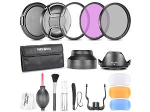 Neewer 52MM Professional Accessory Kit for NIKON D7100 D7000 D5200 D5100 D5000 D3300 D3200 D3100 D3000 D90 D80 DSLR Cameras- Includes