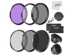 Neewer 58MM Must Have Lens Filter Accessory Kit for CANON EOS Rebel T5i T4i T3i T3 T2i T1i XT XTi XSi SL1 DSLR Cameras