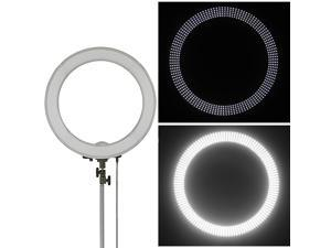 "Neewer Camera Photo/Video 18""/ 48cm Outer 55W 240PCS LED SMD Ring Light 5500K Dimmable Ring Video Light with Plastic Color Filter Set + Universal Adapter with US/EU Plug"