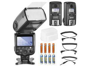 Neewer® NW910/MK910 i-TTL HSS LCD Display Speedlite Master/Slave Flash Kit for Nikon DSLR Cameras,include:(1)NW910/MK910 Flash+(2)RC10N TTL HSS Wireless Flash Transceiver+(1)Diffuser+(8)Batteries