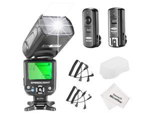 Neewer® NW-561 LCD Screen Flash Speedlite Kit for Canon Nikon and Other DSLR Cameras,include:(1)NW-561 Flash+(1)2.4Ghz Wireless Trigger(1 * Transmitter+ 1 * Receiver)+(1)Microfiber Cleaning Cloth