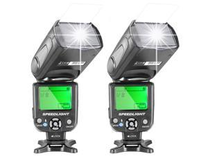 Neewer® Two NW-561 Speedlite Flash with LCD Display for Canon Nikon Panasonic Olympus Fujifilm and Other DSLR Cameras Such as Canon 700D 650D 600D,5D Mark II III,and Nikon D7200 D7100 D5200 D5000