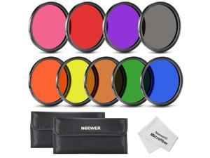 Neewer® 58MM Complete Full Color Lens Filter Set (9pcs) for Camera Lens with 58MM Filter Thread
