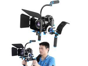 Neewer DSLR Rig Set Movie Kit Film Making System, include Shoulder Mount Follow Focus Matte Box and C-shaped Bracket for All DSLR Cameras and Video Camcorders