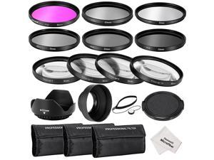 Neewer 52MM Complete Lens Filter Accessory Kit for NIKON D3300 D3200 D3100 D3000 D5300 D5200 D5100 D5000 D7000 D7100 DSLR Camera