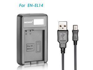 Neewer USB Battery Charger for EN-EL14 Rechargeable Battery for Nikon Coolpix P7000, P7100, D3100, D3200, D3300D5100 D5200 D5300